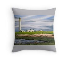 Barns Ness Lighthouse, Scotland Throw Pillow