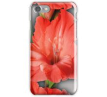gladiola in pastel tones iPhone Case/Skin