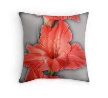 gladiola in pastel tones Throw Pillow