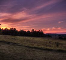 Montour Preserve Sunset by Aaron Campbell
