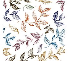 Floral hand drawn pattern Photographic Print