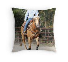 Ride that Yella Horse Throw Pillow