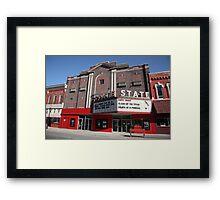 Alpena, Michigan - State Theater Framed Print