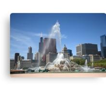 Chicago Skyline and Buckingham Fountain Canvas Print
