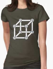 Paradox Box (Optical Illusion Cube) Womens Fitted T-Shirt