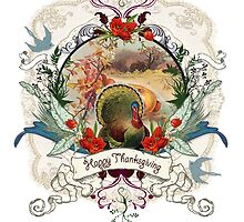 White Thanksgiving Card by Carrie Jackson