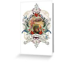White Thanksgiving Card Greeting Card