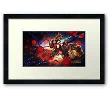 League of Legends Firecracker Jinx - 4K resolution Framed Print