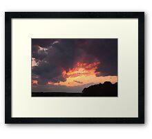 Sunset over Columbia Framed Print