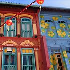 Chinese Windows, Chinatown Singapore by Aurora Vaz
