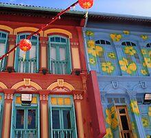 Chinese Windows, Chinatown Singapore by Aurora Vaz