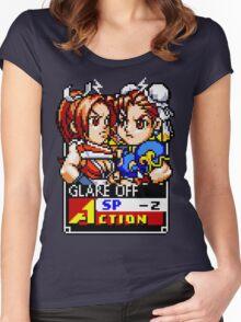 Mai and Chun-li Women's Fitted Scoop T-Shirt