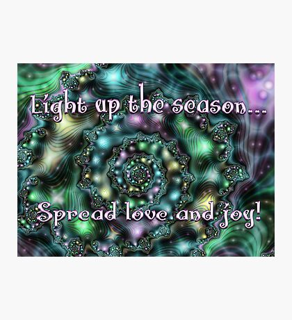 Light Up the Season Card Photographic Print