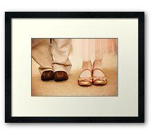 Wedding shoes children Framed Print