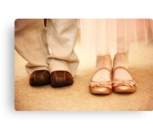 Wedding shoes children Canvas Print