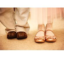 Wedding shoes children Photographic Print
