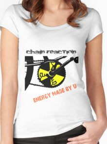 Chain Reaction - Energy made by U Women's Fitted Scoop T-Shirt