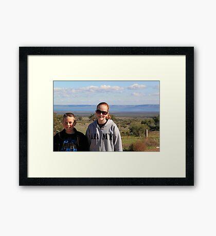 Jack and Jordan Framed Print