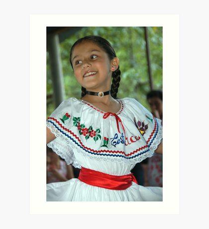 Costa Rica Dancing Girl Art Print