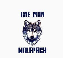 One man Wolfpack.  Men's Baseball ¾ T-Shirt