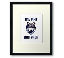 One man Wolfpack.  Framed Print