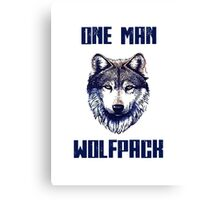 One man Wolfpack.  Canvas Print