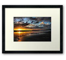 Sunset at Stinson Framed Print