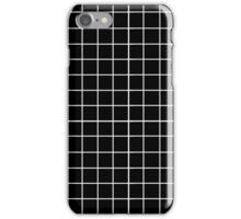 Grid - Black & White iPhone Case/Skin