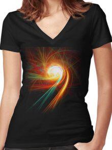 Spirit Round LARGE Women's Fitted V-Neck T-Shirt