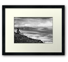 A Lonely Post Framed Print