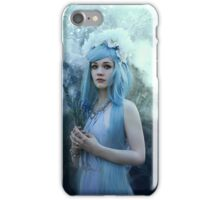 Mystic girl blue hair smoke fantasy elves iPhone Case/Skin