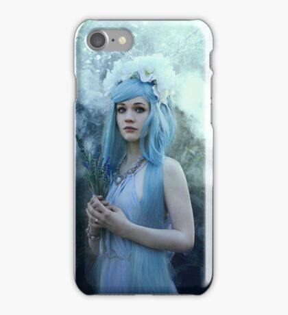 Mystic girl blue hair smoke fantasy elves iPhone Case/Skin