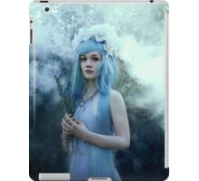 Mystic girl blue hair smoke fantasy elves iPad Case/Skin