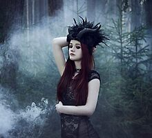 Beautiful gothic girl dark fantasy by Liancary