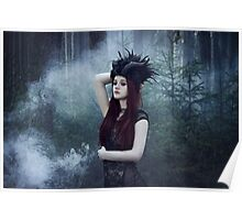 Beautiful gothic girl dark fantasy Poster