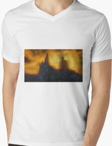 St Pauls in the Blitz by Pierre Blanchard Mens V-Neck T-Shirt