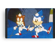 the adventures of sonic the hedgehog  Canvas Print