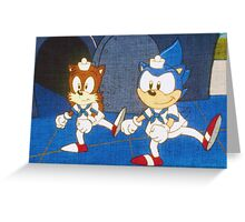 the adventures of sonic the hedgehog  Greeting Card