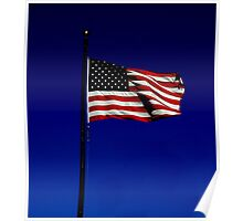Waving American Flag Poster