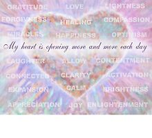 Inspirational Subliminal Art - Heart Chakra Opening - Affirmations by vickieverlie