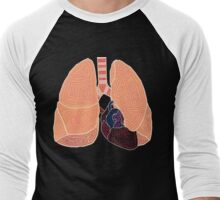 heart and lungs Men's Baseball ¾ T-Shirt