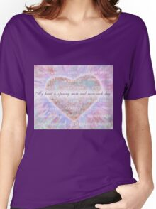 Inspirational Subliminal Art - Heart Chakra Opening - Affirmations Women's Relaxed Fit T-Shirt