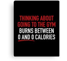 Thinking About Going To The Gym Canvas Print