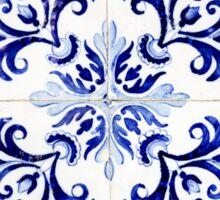 tiles pattern VI - Azulejos, Portuguese tiles Sticker