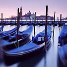 Moored Gondolas in Venice by MartinWilliams