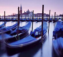 Moored Gondolas in Venice by MartinWilliams