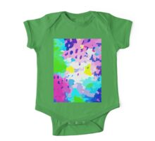 Abstract Colorful Liguid One Piece - Short Sleeve