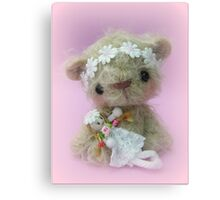 Little Gracie - Handmade bears from Teddy Bear Orphans Canvas Print