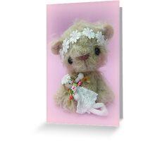 Little Gracie - Handmade bears from Teddy Bear Orphans Greeting Card