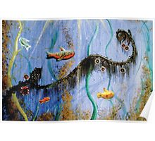 Under The Sea Greeting Card Poster